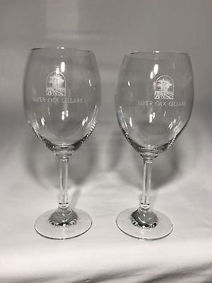 2 - Silver Oak Cellars Napa Valley SCHOTT Zwiesel Logo Wine GLASS 19 oz. Germany
