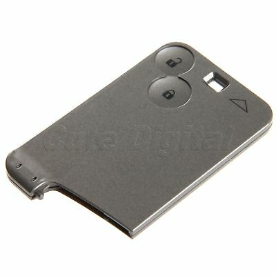 For Renault Laguna Espace Remote Key Card Shell Case 2 Buttons Uncut Blade