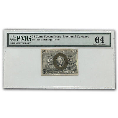 2nd Issue Fractional Currency 25 Cents CU-64 EPQ PMG - SKU#159496