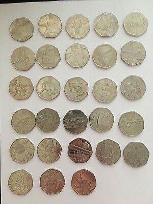 London 2012 Olympic 50p fifty pence coins cheap rare Judo Triathlon Wrestling