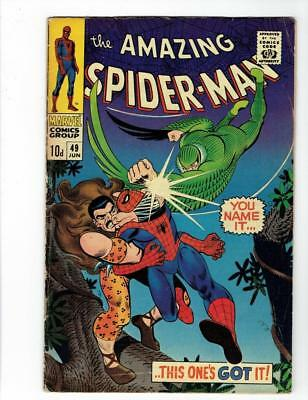 Amazing Spider-Man #49 (Marvel June 1967) VG Kraven Vulture SILVER AGE UK ed.