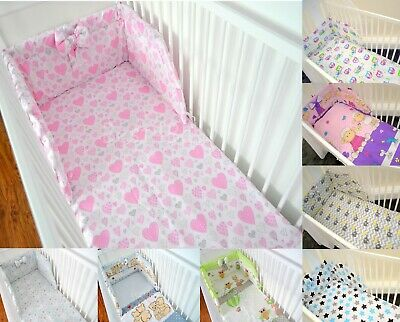 Baby bedding sets 3,4,5 or 6 pcs for cot Many Colourful Designs