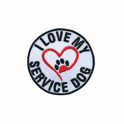 Personalised Service Dog Name Embroidered Patches Iron On Dog Harness Vest Patch