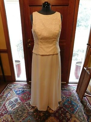 Beautiful Ivory Informal Wedding, Mother Or Special Occasion Gown Size 14