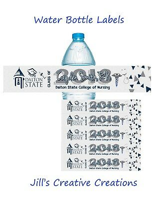 Nurse Graduation water bottle labels, nurse, water bottle label, graduation