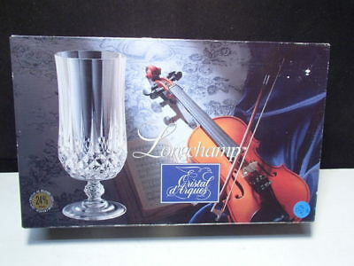 4 Cristal d'Arques Longchamp Iced Tea / Ice Beverage Goblets in Box