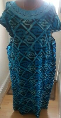 Beautiful African print Baltic dress with Embroidery