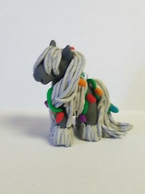 HORSE CHRISTMAS ORNAMENT Vanner GRAY Polymer Clay Hand Made NEW FOR 2018