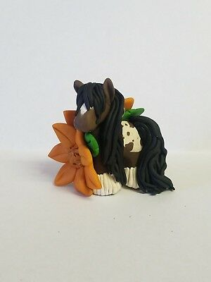 HORSE CHRISTMAS ORNAMENT w/SUNFLOWERS Vanner APPALOOSA Hand Made NEW FOR 2018