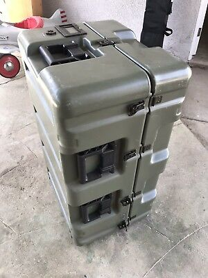 "HARDIGG Green Wheeled Case Medical Chest 33x21x17"" Pressure Relief"