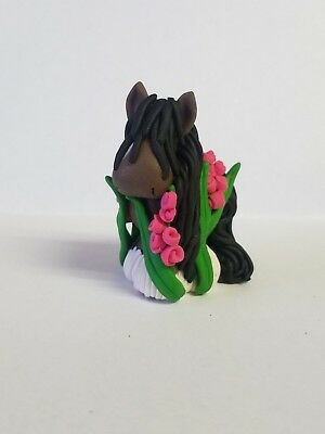 HORSE CHRISTMAS ORNAMENT  Vanner APPALOOSA Hand Made POLYMER CLAY NEW FOR 2018