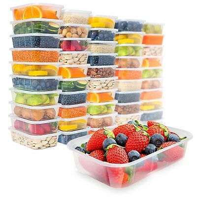 Food Storage Containers with Lids Reusable 50 Pack Microwavable Deli Meal Prep