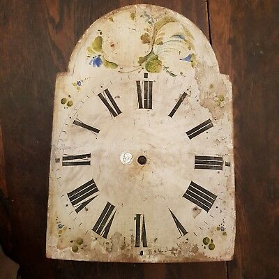 1800s Black Forest Cookoo Cuckoo Clock Old Hand Painted Wood Face Weights Dials