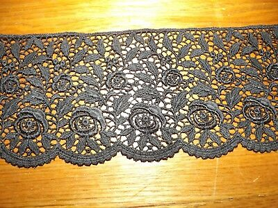 Hand dyed lace,lattice//floral,rayon// polyester,ANTIQUE Peach,2 yds