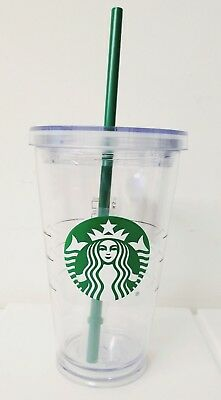 STARBUCKS Clear Acrylic Cold Cup Tumbler Grande16 oz x1