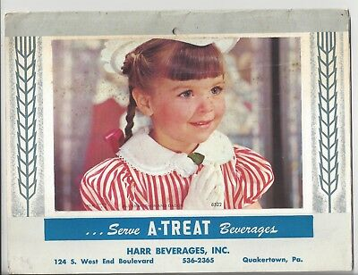 1969 Advertising Calendar Harr Beverges, Inc. Quakertown, PA Serve A-TREAT Soda