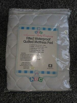 NIP ~American Baby Company Fitted Waterproof Quilted Mattress Pad ~ 18 x 36 x 4
