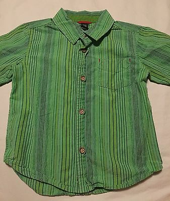 Baby Gap Boys Short Sleeve Button Up Shirt Size 2T Years Green
