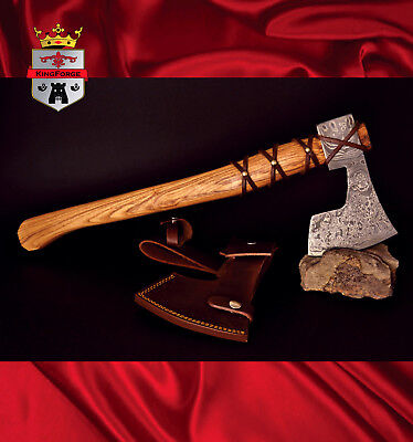 Damascus Vinking Axe 064FD Viking Style Axe KingForge Bush axe hatchets tactical