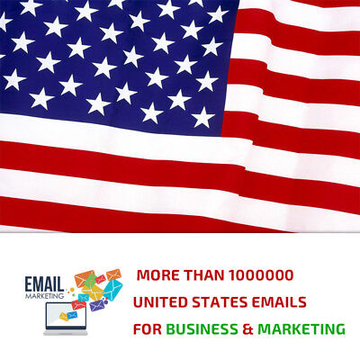 +1 Million United States Emails - Email list for Marketing and Business (NEW)