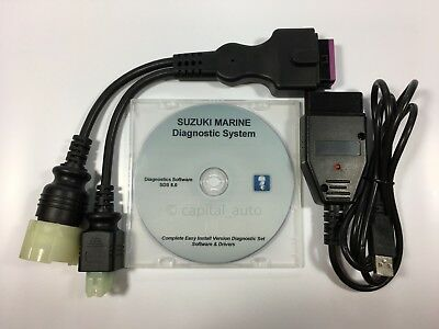 For Suzuki Outboard Boat Marine Diagnostic USB Cable Kit SDS 8.2