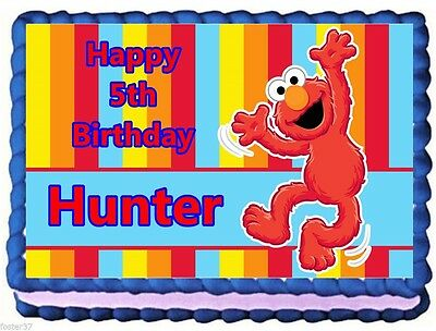 Elmo Edible Cake Topper Birthday Decorations