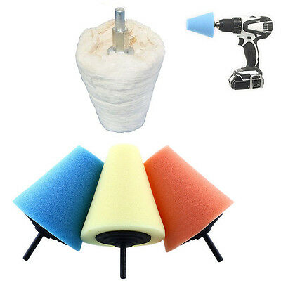 Foam Polishing Cone Shaped Polishing Pads for Wheels - Use with Power Drill