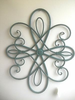 """18""""  Rusty Turquoise Metal Wall Decor. Gorgeous Antique Look Home Accent"""