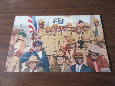 What About US!  Boy Scout American Negro Post Card Asking for Equality     c17