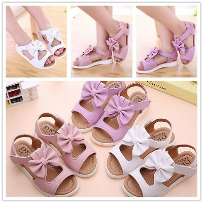 Summer Fashion Kids Children Sandals Bowknot Shoes Girls Pricness Flat Shoes UK