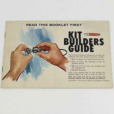HEATHKIT 1965 KIT BUILDERS GUIDE 597-308 Generic Assembly Soldering Intro Manual
