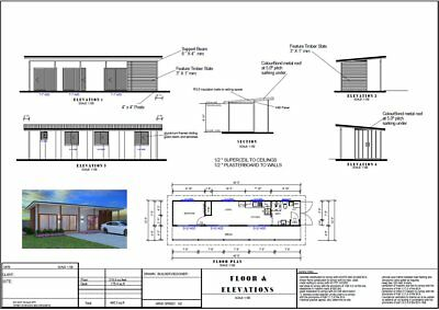 Shipping Container Home - 1 Bedroom +  Deck : DIY Construction Plans For Sale