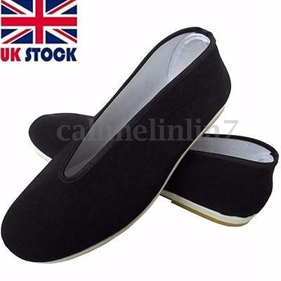 Traditional Tai-Chi/Kung Fu Shoes Unisex Canvas Sport Slipper Shoes Rubber Sole@