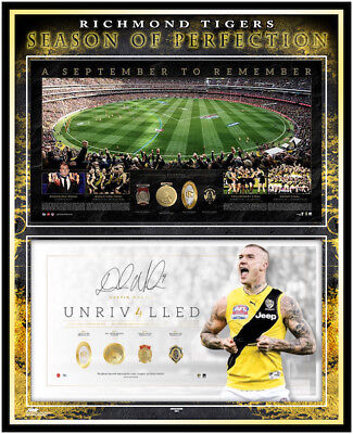 Richmond Tigers – Season Of Perfection – Dustin Martin Signed Framed