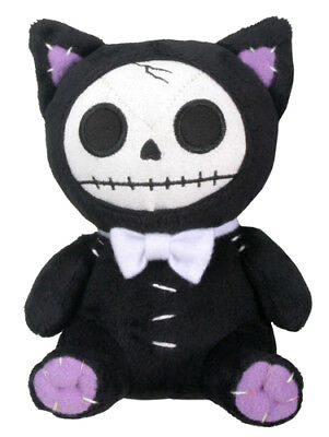 "Furrybones Plush - Black Mao Mao Skull Skeleton In Costume - 5.5"" New"