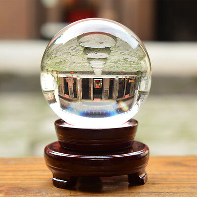 """100mm 3.94"""" D Quartz Crystal Ball Sphere Scrying Ball Photo Props Ship From USA"""