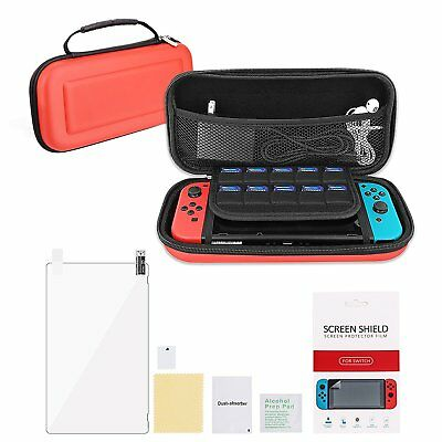 Nintendo Switch Hard Case Protective Cover Carry Bag By Orzly - Red