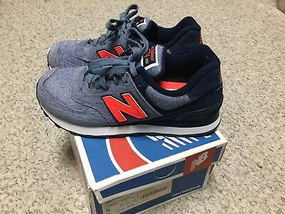 buy popular c7a5d 7ec53 NEW NEW BALANCE 574 Sweatshirt Shoes Sneakers WL574WTC Sz 6 Women's Blue  Orange