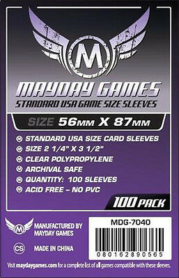 100 Pcs Mayday Card Game Sleeve Protector for 56*87mm Board Game MUNCHKIN 7040