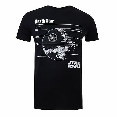 Star Wars Death Star - Mens T-Shirt - Black - Sizes S-XXL