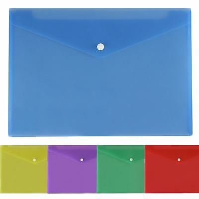 A4 Popper Wallet Packs 1 6 12 24 36 or 48 Plastic Stud Paper Store Documents