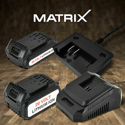 Matrix 20V Lithium Battery / Battery Charger Spare Replacement 3 Year Warranty