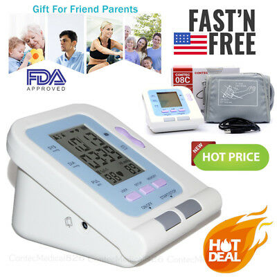 Blood Pressure Monitor Digital Upper Arm Cuff Automatic Measure Heart Rate Pulse