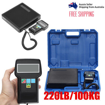 Portable Digital Electronic Refrigerant Charging Weight Balance Scale with case