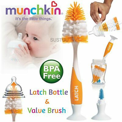 Munchkin Kid's Latch Bottle & Valve Cleaning Brush│Easy Cleaner│Germ protector│