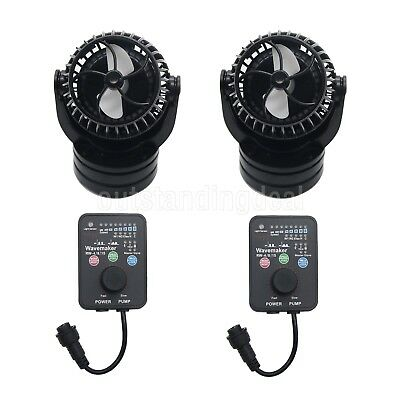 2Packs Jebao RW15 PP-15 Reef Wave Maker with Controller Powerhead Pump 110V
