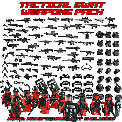 Tactical Gears & Weapons Minifigures Army Military SWAT Lego compatible