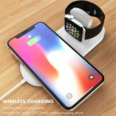 Wireless Charger Quick Charging Pad for IPhone X 8 Plus Apple Watch 3 AirPower