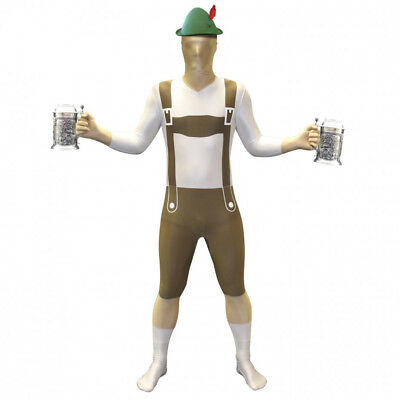 Brand New Lederhosen Morphsuit Oktoberfest Fancy Dress Costume - Medium 5'-5'4""