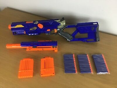 Nerf LongStrike CS6 N-Strike Blaster Foam Dart Sniper Rifle Gun Kids Toy Hasbro